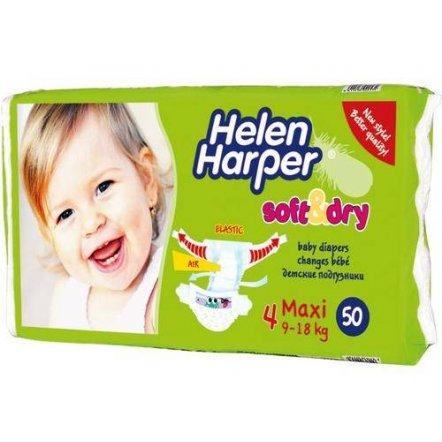"Подгузники Helen Harper Maxi (Хелен Харпер Макси) 9-18 kg, 50 штук ""Soft and Dry"" № 4"