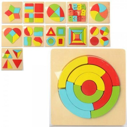 Геометрика деревянная игрушка пазлы MD 2326