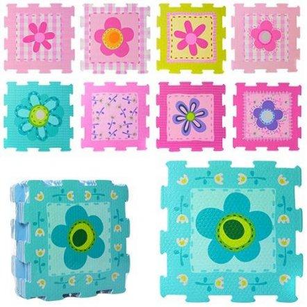 Коврик пазл текстурный Цветы для девочек 2613