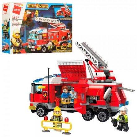 Конструктор пожарная машина+фигурки 366 деталей 2807 Qman