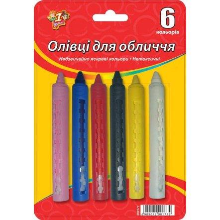 Карандаши для лица механические, 6 цветов (290177)
