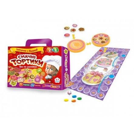 """Игра на магнитах """"Вкусные тортики с Машей"""" Vladi Toys 3003"""