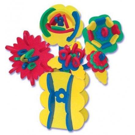 """Мягкие пазлы 3D """"Ваза с цветами"""" Vladi toys ЦМ-302"""