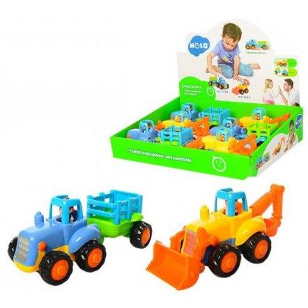 Машина  Стройтехника инерционная Экскаватор и трактор с прицепом 326AB