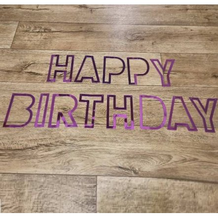 Гирлянда-растяжка бумажная для Дня Рождения лента Happy Birthday MK 3408