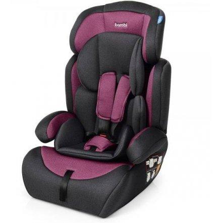 Автокресло детское  серо-фиолетовое группа 1-2-3 лен M 3546 Pink Gray