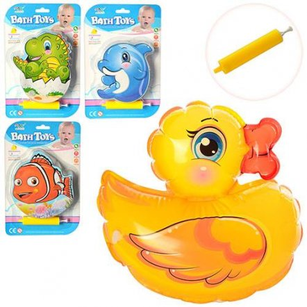 Игрушка надувная для купания с насосом KT3613