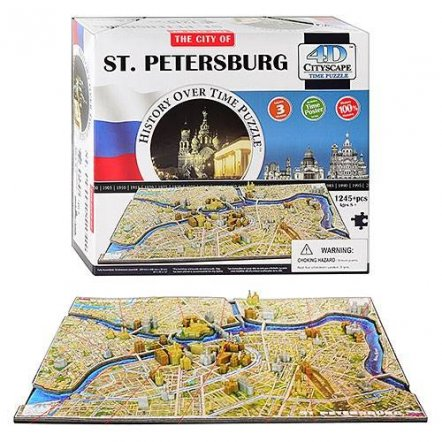Пазл 4D Санкт-Петербург 1245 деталей 40036 Великобритания