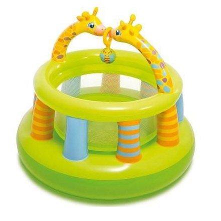 311513e78241 Надувной детский манеж-батут круглый Жирафики 48474 Intex купить в ...
