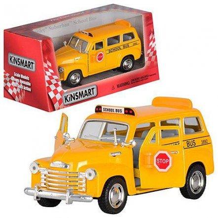Машинка KINSMART 1:38 Школьный автобус CHEVROLET KT 5005 W инерционная