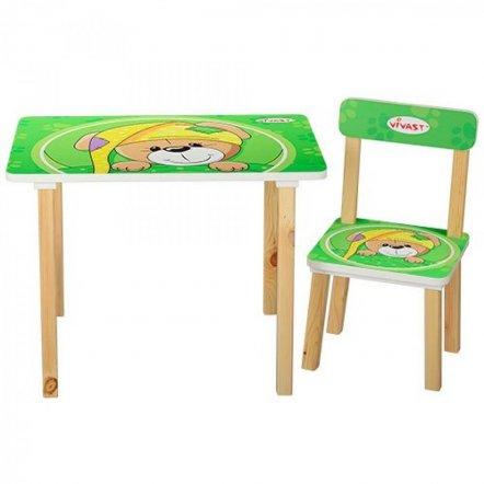 Детский стол и 2 стула Мишка 501-14 Vivast, Украина