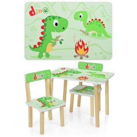 Детский стол и 2 стула Динозаврики 501-73