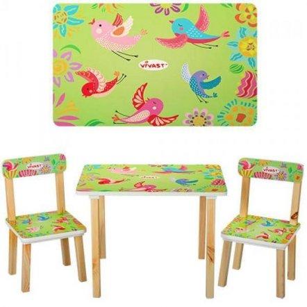 Детский стол и 2 стула Птички 501-6 Vivast, Украина