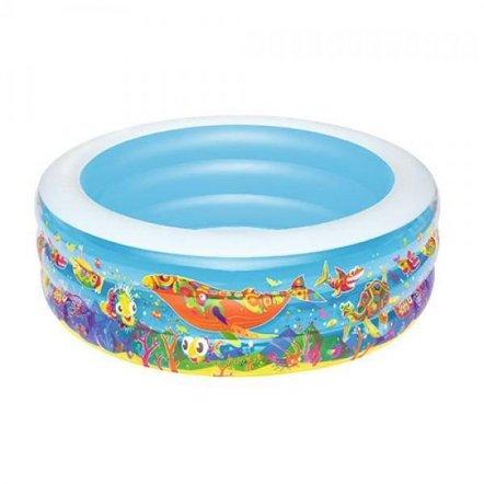 Бассейн детский круглый 3 кольца 400 л 51121 Bestway