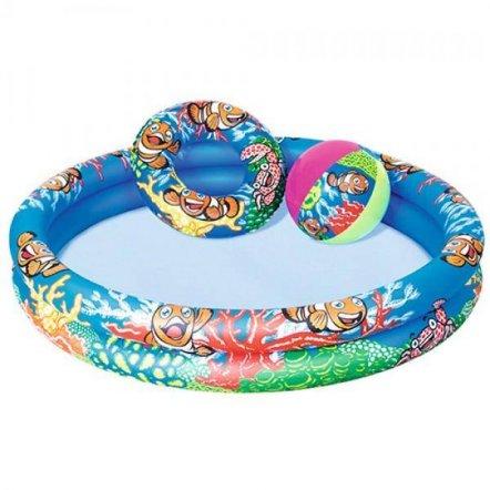 Бассейн Подводный мир + круг и мяч BW 51124 Bestway