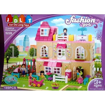"""Конструктор для девочек """"Модный дом"""" JDLT 189 деталей 5228"""