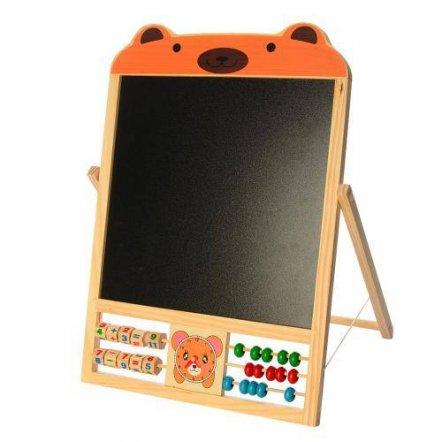 Досточка  двухсторонняя магнитная настольная со счетами и цифрами 1028 в коробке