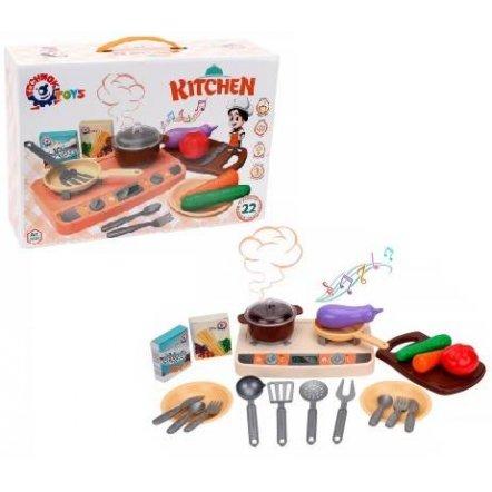 Посудка с плитой с электронным модулем + продукты 5620 ТехноК