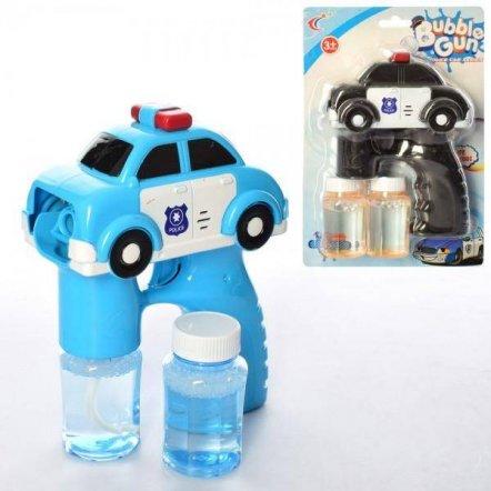 Мыльные пузыри пистолет-машинка Полиция + 2 запаски 568-5