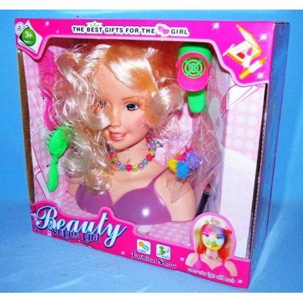 Кукла-голова для моделирования причесок и макияжа 789