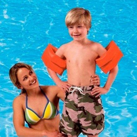 Детский надувной нарукавник для плавания Intex 59642 однотонный 6-12 лет