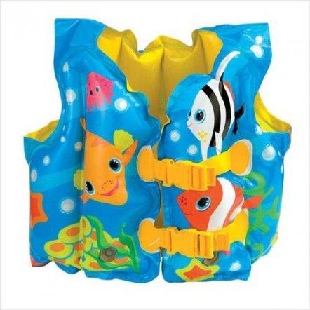 Жилет надувной для плавания с рыбками Intex 59661. Хит продаж!