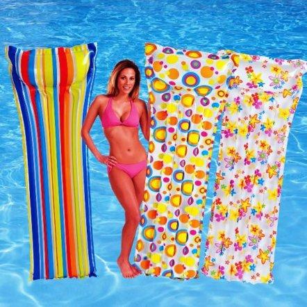 """Пляжный надувной матрас Intex  59711 """"Три цвета"""""""