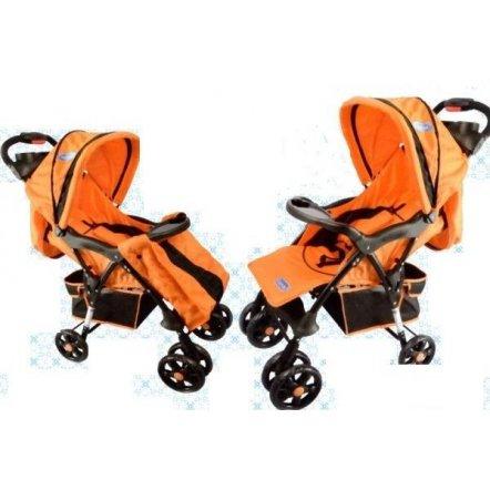"Коляска детская прогулочная B 600-7 ""Bambi"" оранжевая"