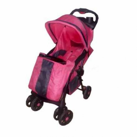 "Коляска детская прогулочная B 600-8 ""Bambi"" розовая"