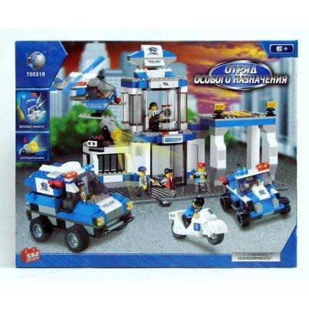 Конструктор Полицейский участок в 2 уровня с транспортом 582 детали Sluban M38 B 0192