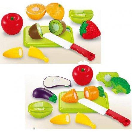 Продукты на липучке в корзинке салатовой 666-26-7-8