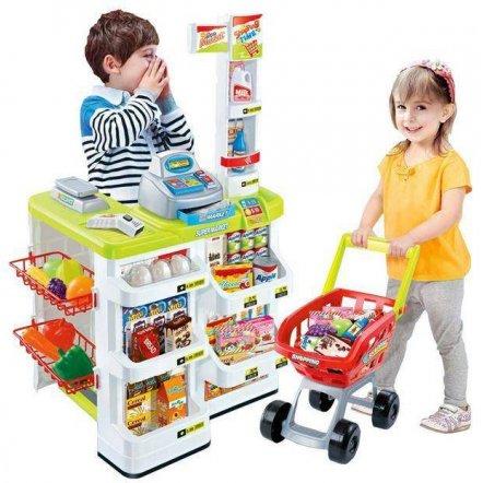 Магазин Мегамаркет с кассой, тележкой и сканером 668-01-03