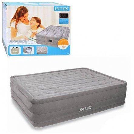 Велюр кровать со встроенным насосом 220V KHT 66958 Intex