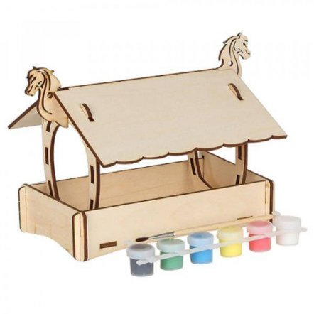 Набор для творчества деревянный с красками Кормушка 70007/1 Вудмастер
