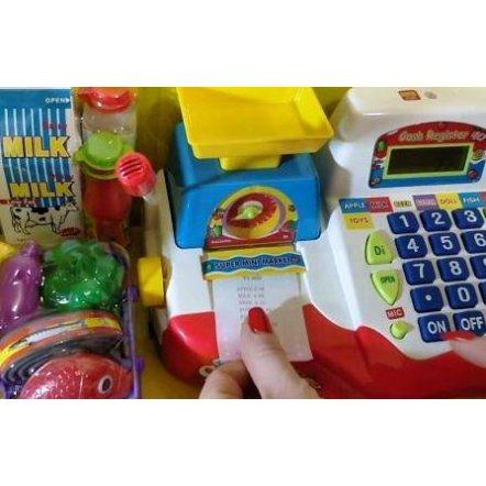 """Кассовый аппарат """"Супермаркет. Мини касса"""" с чеком и микрофоном 7162 Joy Toy"""