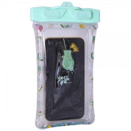 Водонепроницаемый чехол для смартфона бирюзовый Коктейль 726193