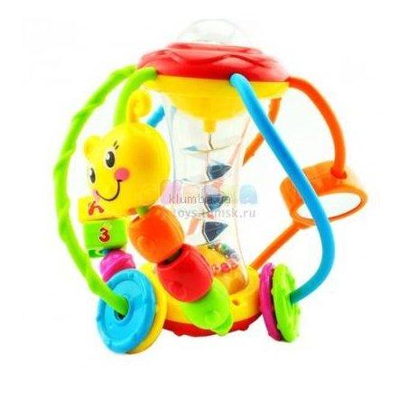 Игрушка Волшебный шар для развития мелкой моторики с зеркальцем и пищалкой 929