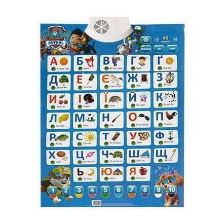 """Интерактивный плакат """"Абетка с мультгероями"""" на украинском языке 7290 Joy Toy"""