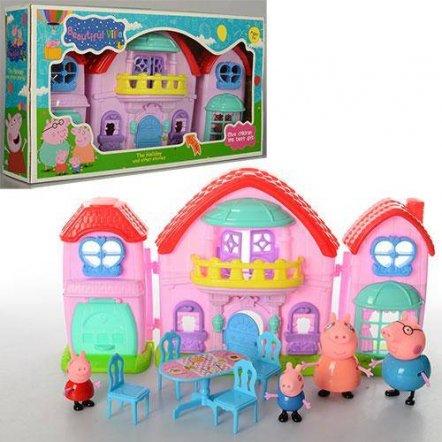 Домик для Свинки Пеппы с семьей музыкальный раскладной ТМ 8805