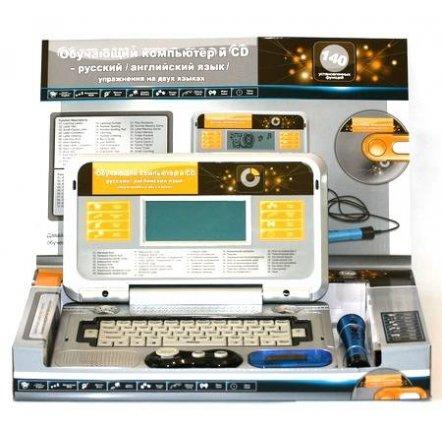 Ноутбук  обучающий 8850 англ/рус, с мышкой, микрофоном и CD диском