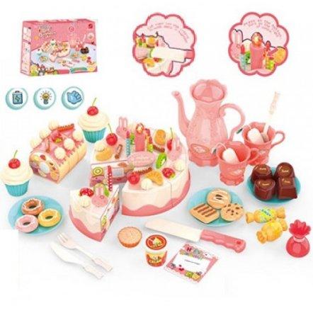 Продукты Торт на липучках и кофейный сервиз на 2 персоны сладости 889-149
