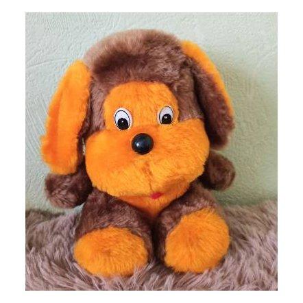 Уценка! Мягкая игрушка Собачка коричнево-оранжевая средняя 2021