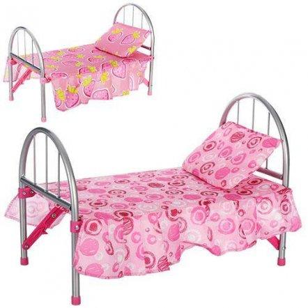 Кровать для кукол металлическая 9342