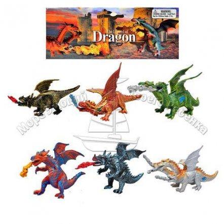 Набор фигурок драконов 6 штук 9565
