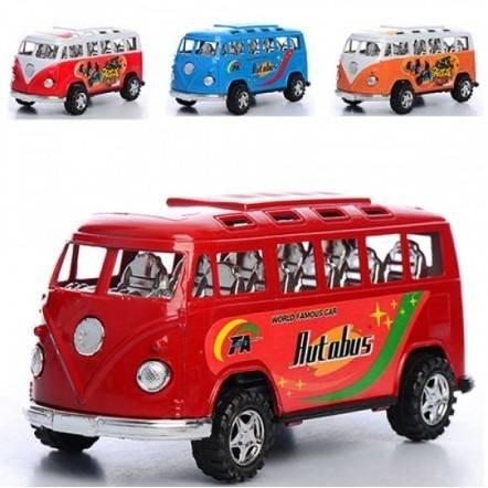 Автобус инерционный пластиковый малый 595-14-15