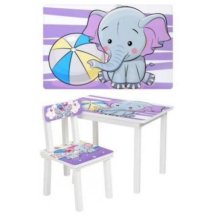 Детский стол и стул для творчества  Слоник BSM2K-05