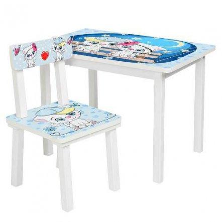 Детский стол и стул  для творчества  Котики на качелях BSM2K-25 Cats at night