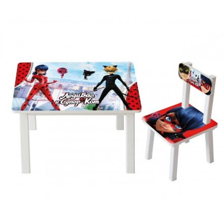 Детский стол и стул для творчества  Lady Bug - Леди Баг BSM2k-M01