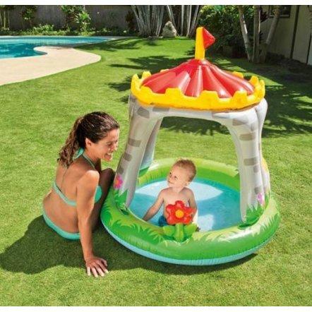 Бассейн детский надувной с навесом Замок 57122 Intex