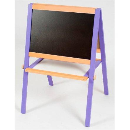 Деревянный мольберт двухсторонний фиолетово-оранжевый